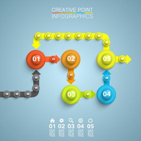 algorithm: Point algorithm information art infographic.