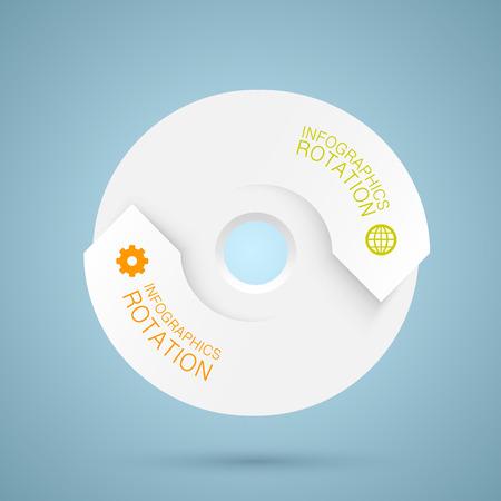 Infographics rotation art repetition data.