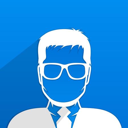 anonymity: Male avatar profile art creative. Vector illustration