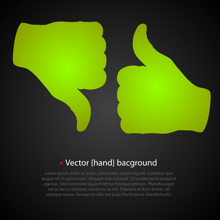 pointing up: Good bad art set hand. Vector illustration Illustration