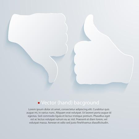 Paper good bad art set. Vector illustration