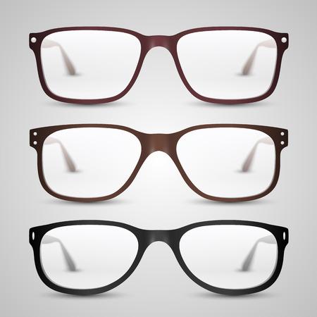 10eps: Transparent glasses object. Vector illustration art 10eps Illustration
