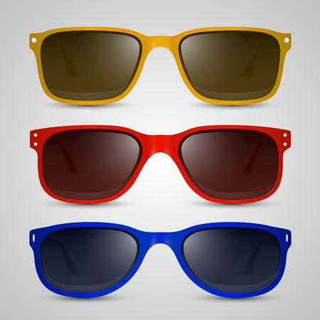 10eps: Sunglasses color object. Vector illustration art 10eps
