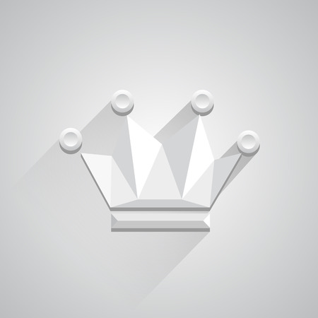king palace: Icon crown on white background. Vector illustration