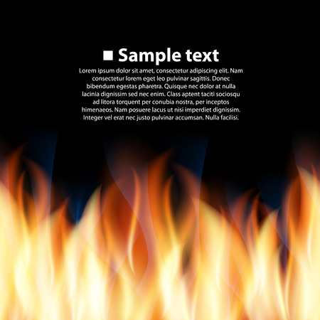 Seamless background with flame art. Vector illustration