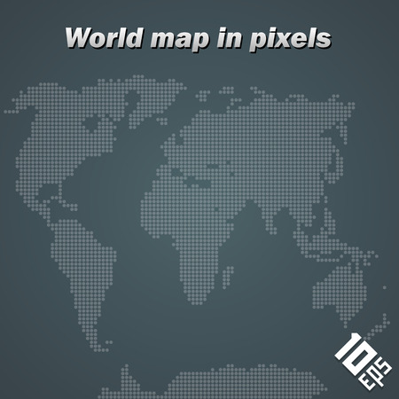 Map the points art banner. Vector Illustration Ilustração