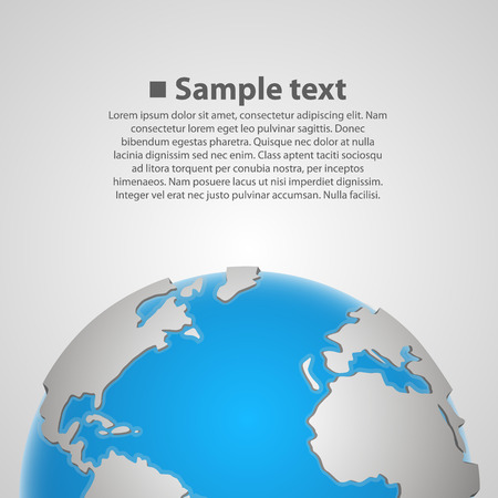 realist: Background with earth art globe. Vector Illustration