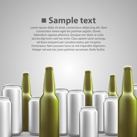 10eps: Beer flyer background art banner. Vector illustration Illustration