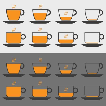 expresso: Coffee icon set art creative. Vector illustration