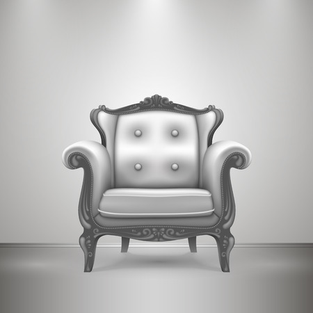 Retro chair gray art furniture. Vector Illustration Vector