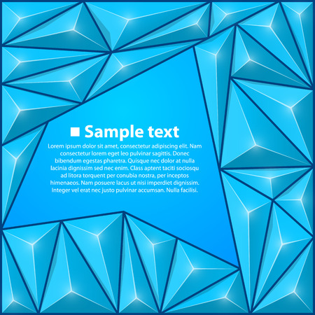 10eps: Vector background with triangles. Blue illustration background Illustration