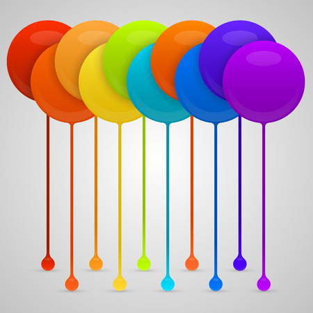 paint drips: Colored paint drips. vector background. Vector illustration