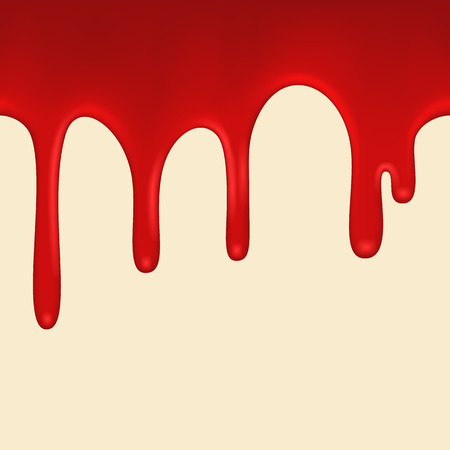 paint drip: Seamless Red paint colorful dripping background. Variant 2