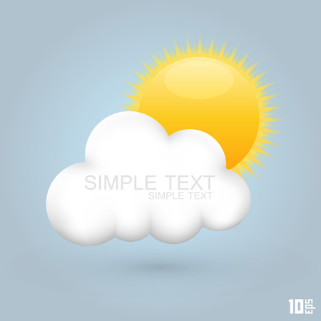 dawning: Sun in the cloud art creative. Vector illustration