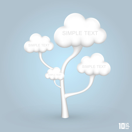 religious life: Tree out of the clouds art creative. Vector illustration Illustration