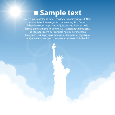 statue of liberty: The Statue of Liberty. World sightseeing collection. Illustration