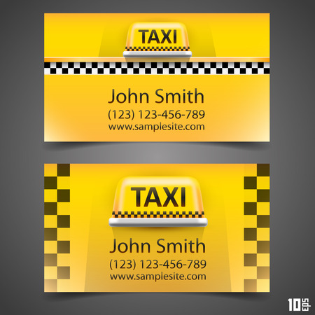 Taxi business card art paper. Vector illustration Vector