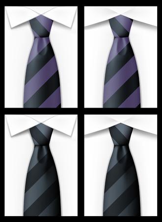 neckcloth: Tie backgound art card banner. Vector illustration