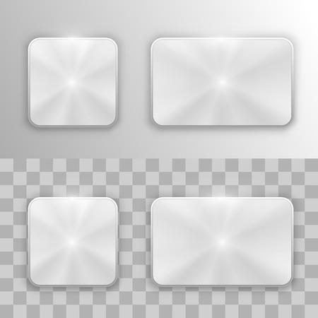 chrome button: Set of metal buttons art. Vector illustration