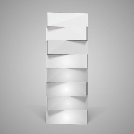 ebox: Vertical rettangolare 3d piramide art. Illustrazione vettoriale