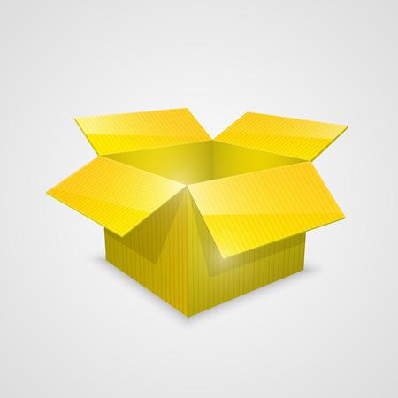 Color vector open box. yellow. Vector Illustration Vector