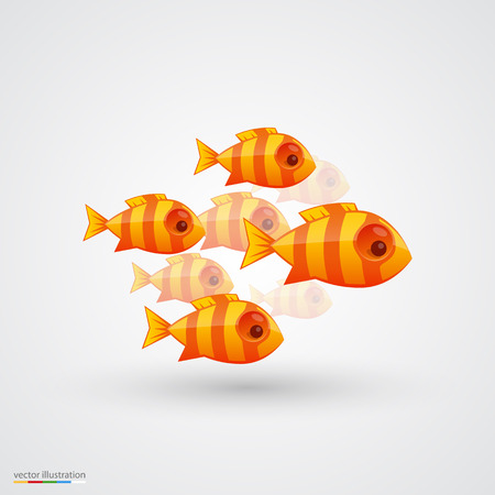 scales of fish: Paquete de gráficos de iconos de pescado. Ilustración vectorial