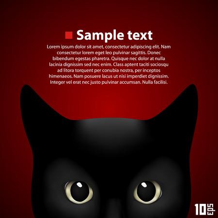 puss: Portrait beautiful cat art banner. Vector Illustration Illustration