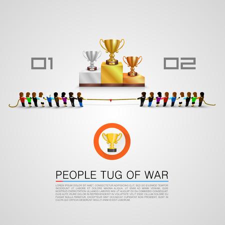 Tug of war for the award Vetores