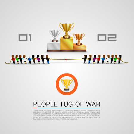 tug: Tug of war for the award Illustration