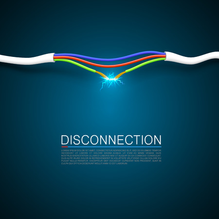 Cable break disconnect art cover. Imagens - 36757226