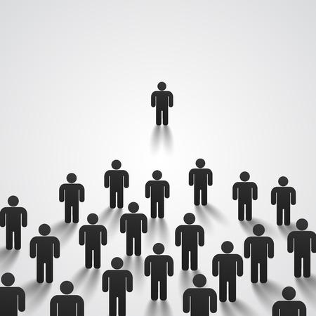 predicador: Líder se para frente a una multitud Vectores