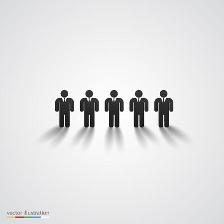 personnes noires: Noirs silhouette ligne Illustration