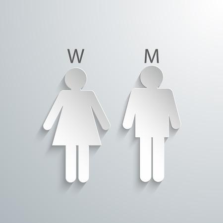 silueta masculina: Hombre y mujer siluetas con sombras