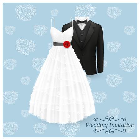 Wedding invitation card art Illustration