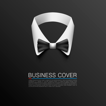 cover art: Business Suit arte copertura bandiera Vettoriali