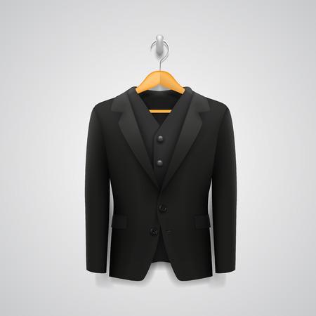 shirt hanger: Jacket on a hanger art Illustration