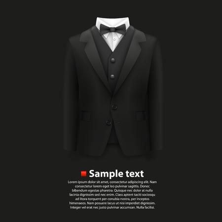Jacket over a black background. Vector illustration Иллюстрация