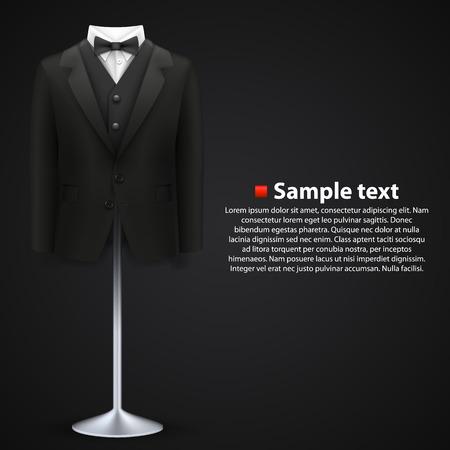 male costume: Jacket over a black background Illustration