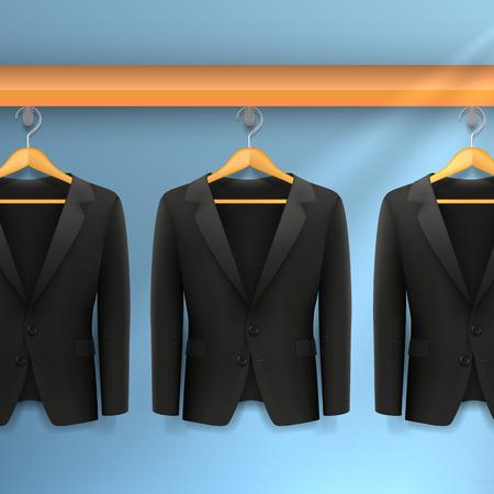 hangers: Jackets on hangers Illustration