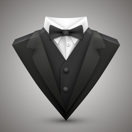 Triangle jacket with a bow tie