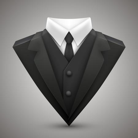 三角形ジャケットし、ネクタイ アート