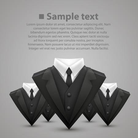 Triangle jacket and tie team Illustration
