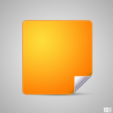 turn up: Square with a curved end Illustration