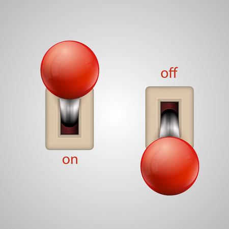palanca: Botones de la palanca del interruptor arte fijado