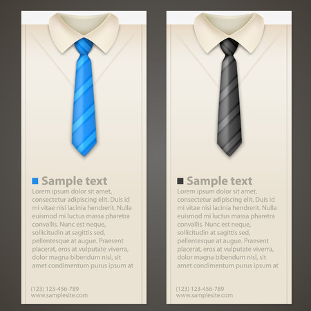 dressy: Shirt and tie vertical business card