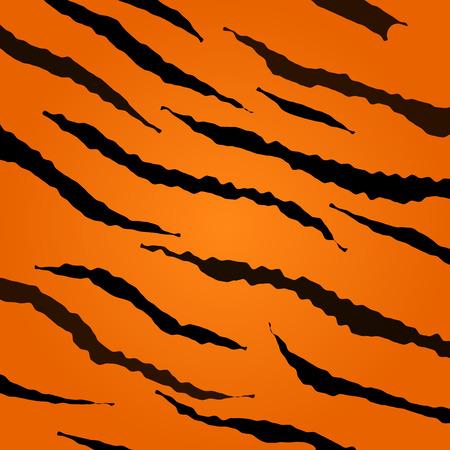 Tijger huid patroon Stock Illustratie