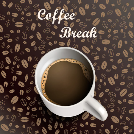 fond caf�: Tasse de caf� de fond de grains