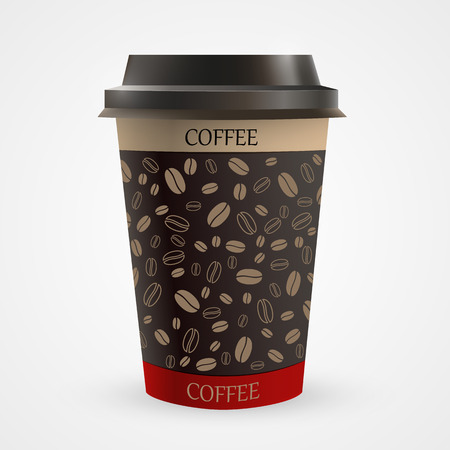 polystyrene: Close up of blank paper coffee cup