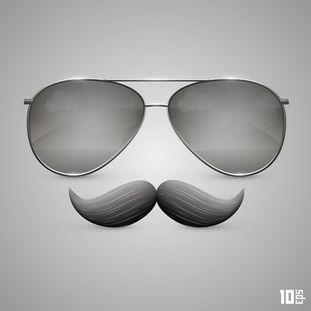 fake mustaches: Glasses with a mustache