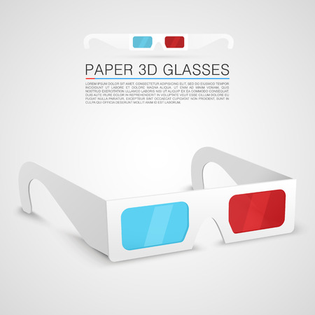 Paper 3d glasses art object